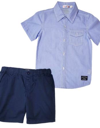 Conjunto de niño camisa y pantalón marino