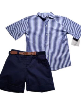 Conjunto de niño camisa rayas marino 6321