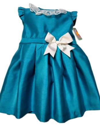 Vestido de niña turquesa 08