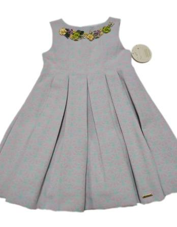 Vestido niña cuello de flores 2221