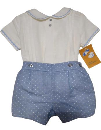 Conjunto de niño vestir azul y blanco