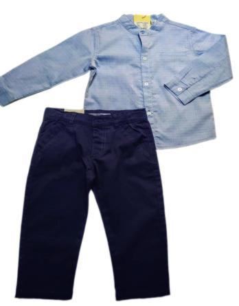 Conjunto de niñode vestir con camisa manga larga 17291