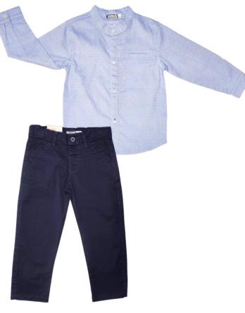 Conjunto de niñode vestir con camisa manga larga