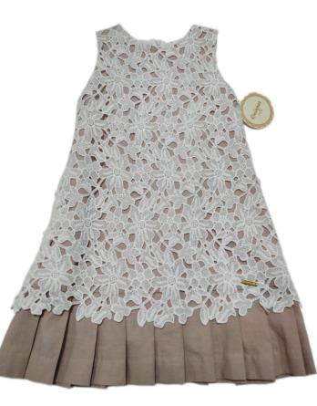 Vestido de niña flores bordadas 2252