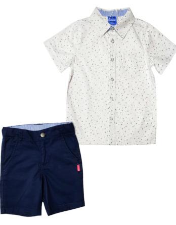 Conjunto niño con camisa estampada azul marino