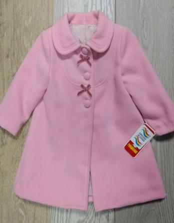 Abrigo de niña de vestir rosa