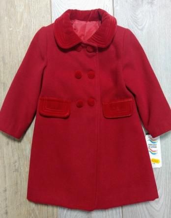 Abrigo de niña de vestir rojo