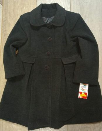 Abrigo de niña de vestir gris marengo