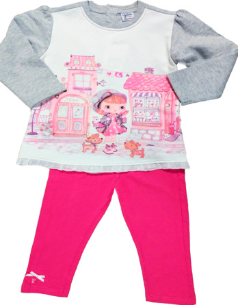 Conjunto de leggings de niña muñeca