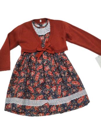 Vestido de niña formas manga corta con chaqueta 50150