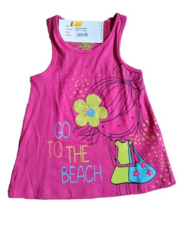 Camiseta de niña verano tirantes fucsia 128AD