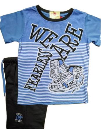 Conjunto de niño verano m/c pantalón corto zapatillas 17103402