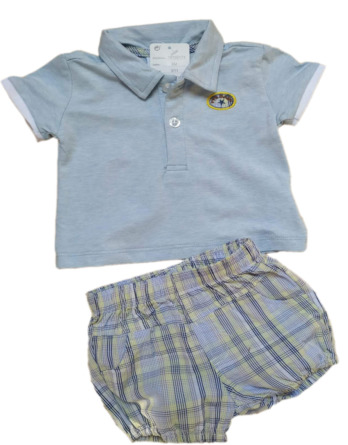 Conjunto de niño bebé verano polo m/c pantalón cuadros 18105174