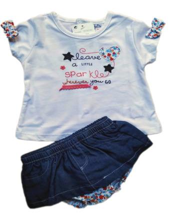 Conjunto de niña bebé verano falda vaquera 18105191