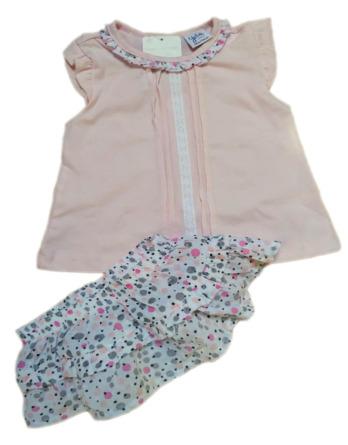Conjunto de niña bebé verano tirantes falda flores 18171263