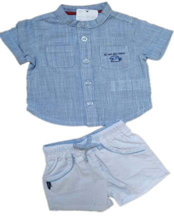 Conjunto de niño bebé verano camisa rayitas 19171305