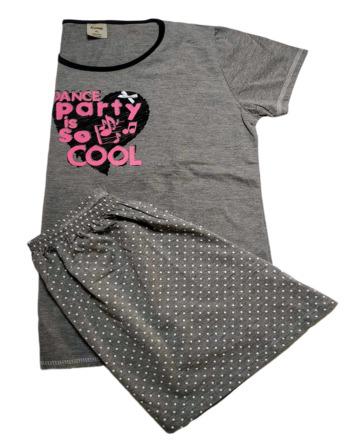 Pijama de señora verano m/c topos gris 21133