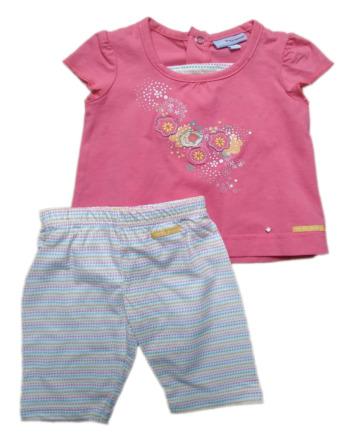 Conjunto de niña bebé m/c verano legging corto rayas 5086
