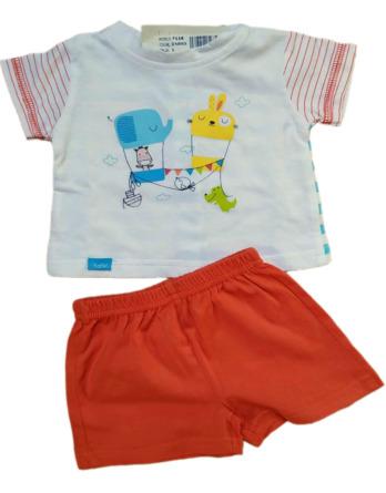 Conjunto de niño bebé verano m/c naranja 7116