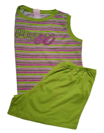 Pijama de señora verano s/m rayas lila AS109
