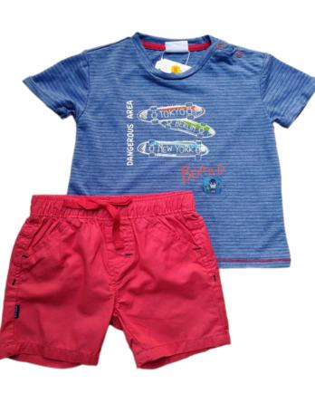 Conjunto de niño m/c bebé verano monopatín azul 17113808