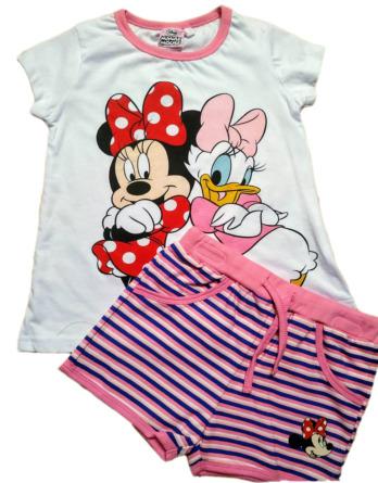 Conjunto de niña m/c minnie y Daisy rayas N05174
