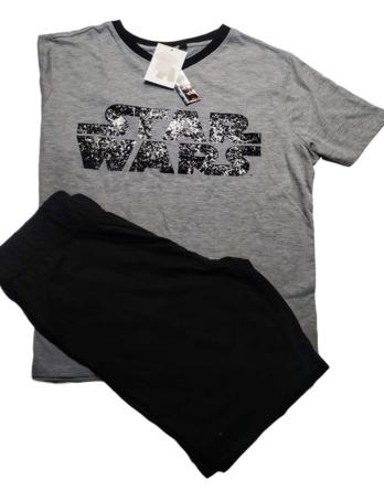 Pijama de caballero verano m/c negro Star Wars SE3504