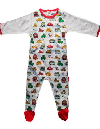 Pelele de niño bebé m/l algodón coches gris18105062