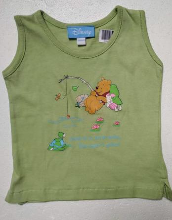 Camiseta de bebe s/m verde Winnie the Pooh 2000000172538
