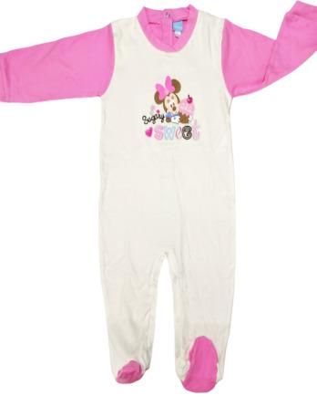 Pelele de niña bebé m/l crudo y rosa2543