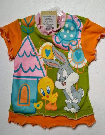Camiseta de niña m/c Piolín colores 2806