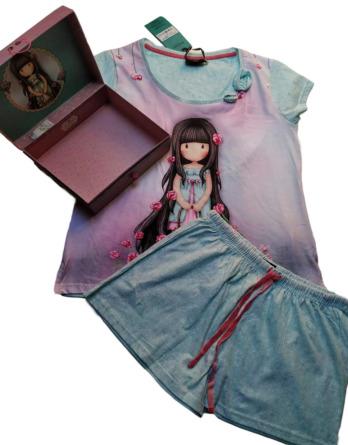Pijama de señora verano m/c Santoro malva 50963
