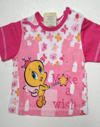 Camiseta de niña m/c Piolín rosa7458U