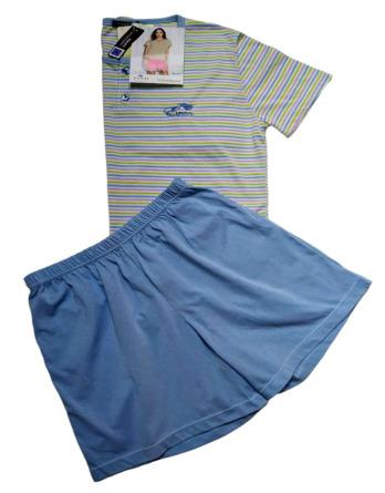 Pijama de señora verano m/c rayas 7673
