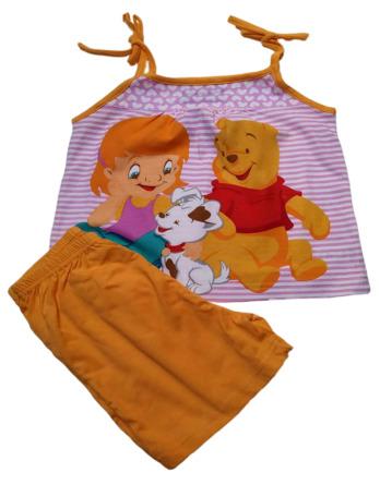 Pijama de niña tirantes naranja Winnie the Pooh7933