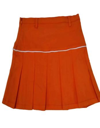 Falda de niña de tablas naranaja 96096