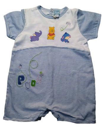 Pelele de niño bebé m/c corto rayas Winnie the Pooh98871