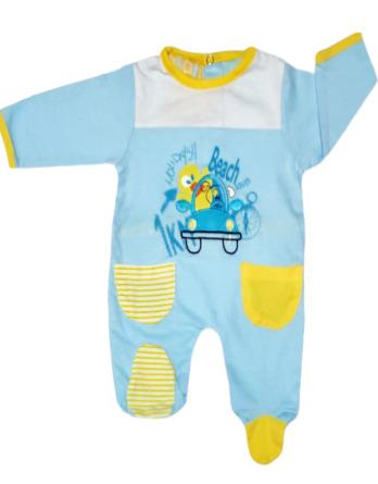 Pelele de niño bebé m/l azul y amarillo AS17
