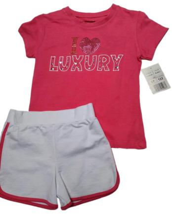 Conjunto de niña verano m/c pantalón corto blanco GGENOVA