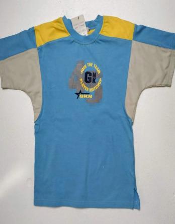 Camiseta de niño verano m/c azul y amarilla GGOLF