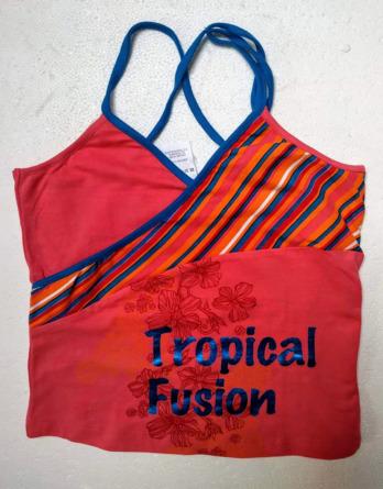 Camiseta de niña tirantes cruzados7606