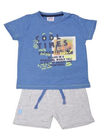 Conjunto de bebé niño verano azulón y gris