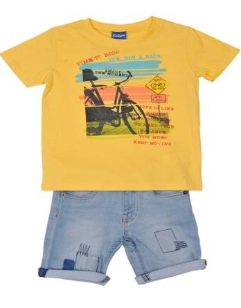Conjunto de niño verano amarillo con vaquero corto