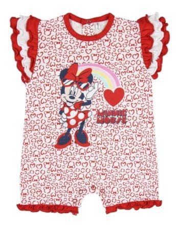 Pelele de niña bebé m/c corazones rojo Minnie
