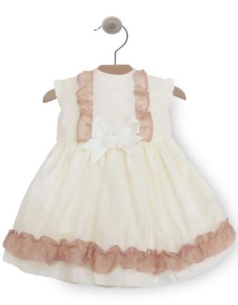 Vestido de bebé niña crudo y maquillaje 50224