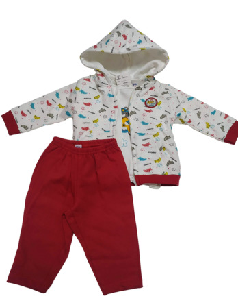 Chandal de bebé niño de algodón rojo
