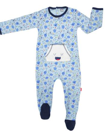 Pelele de niño bebé algodón m/l azul muñecos 19280455