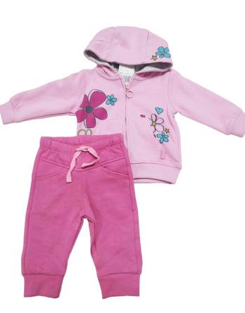 Chandal de bebé niña algodón flores rosas