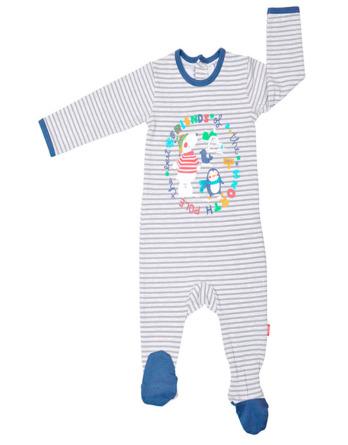 Pelele de bebé algodón m/l rayas gris