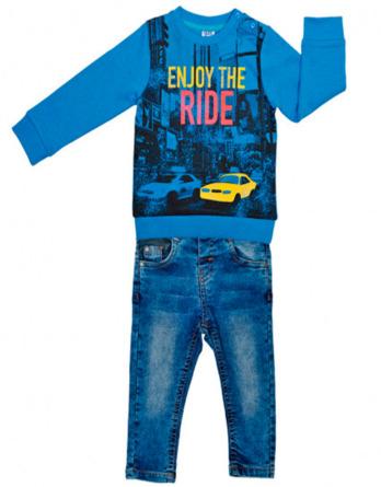 Conjunto de bebé niño azulón pantalón vaquero
